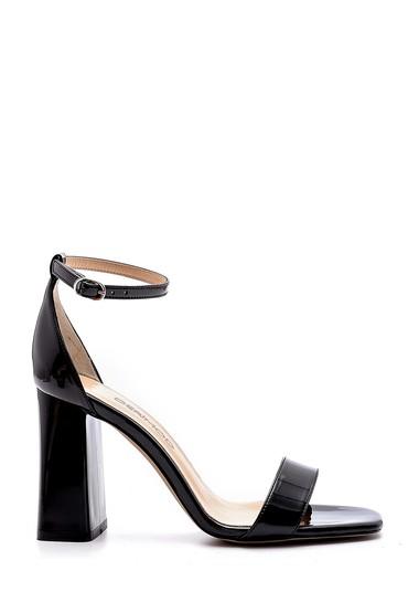 Siyah Kadın Kalın Topuklu Sandalet 5638166168