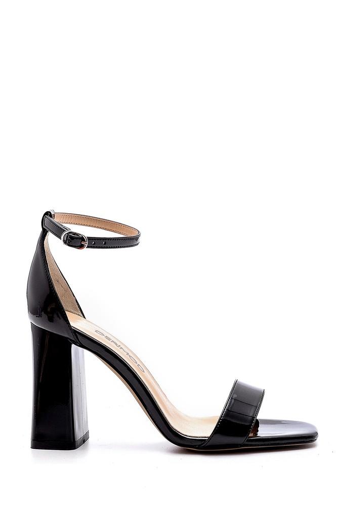 Siyah Kadın Kalın Topuklu Sandalet 5638166182