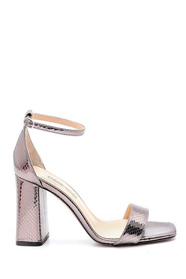 Kahverengi Kadın Topuklu Sandalet 5638166184
