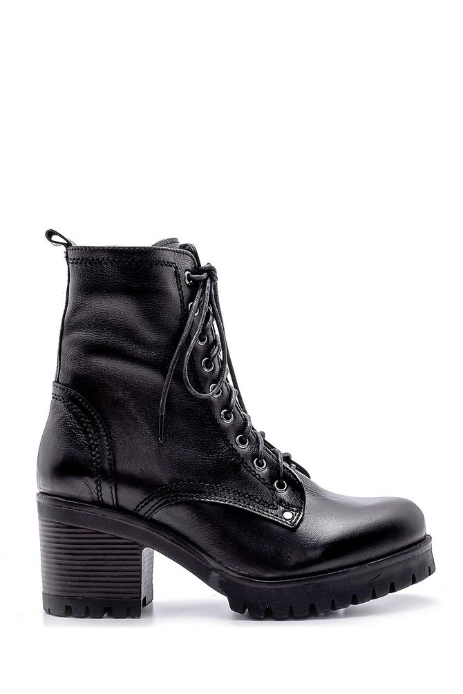 Siyah Kadın Deri Topuklu Bot 5638183491