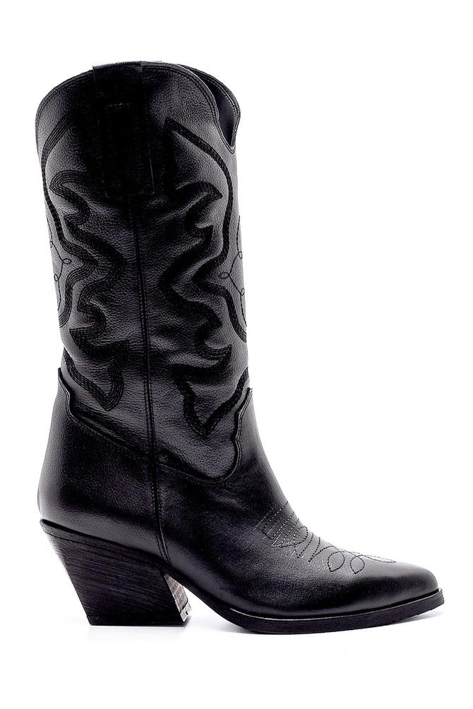 Siyah Kadın Kovboy Çizme 5638183566