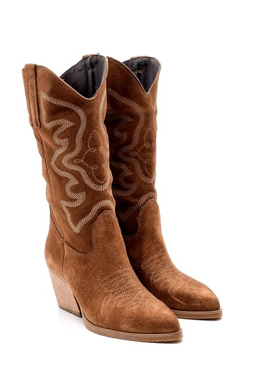 Taba Kadın Kovboy Çizme 5638183598