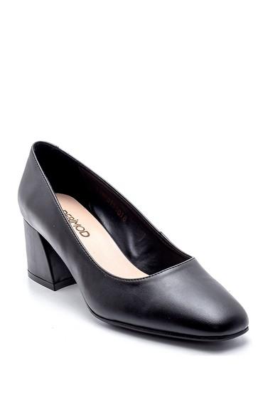 Siyah Kadın Kalın Topuklu Ayakkabı 5638187305