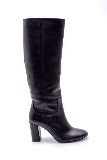 Siyah Kadın Deri Topuklu Çizme 5638192070