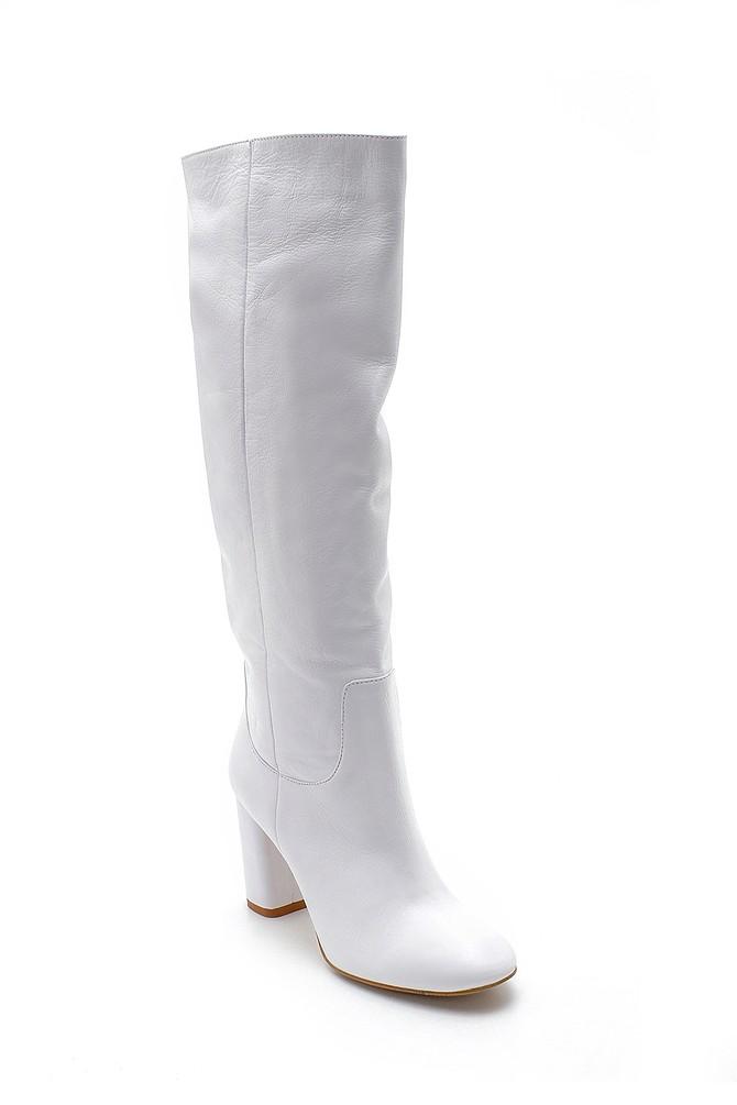 5638192071 Kadın Deri Topuklu Çizme