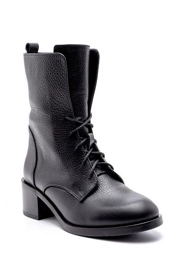Siyah Kadın Deri Topuklu Bot 5638193967