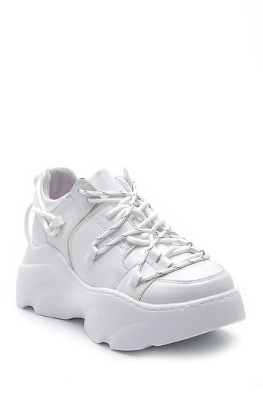 Beyaz Kadın Yüksek Tabanlı Sneaker 5638195381