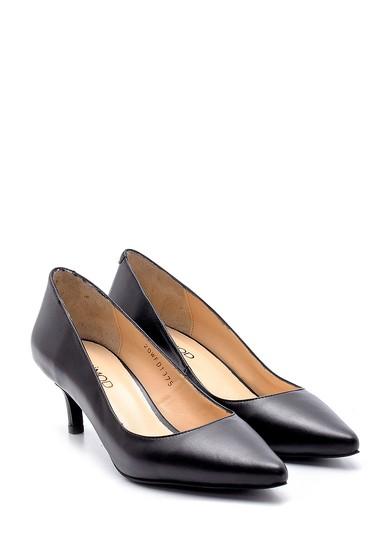 Siyah Kadın Deri Stiletto 5638202958