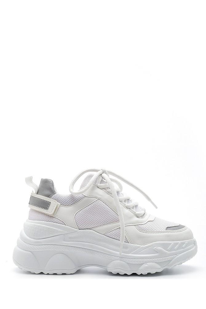 Beyaz Kadın Yüksek Tabanlı Sneaker 5638203283