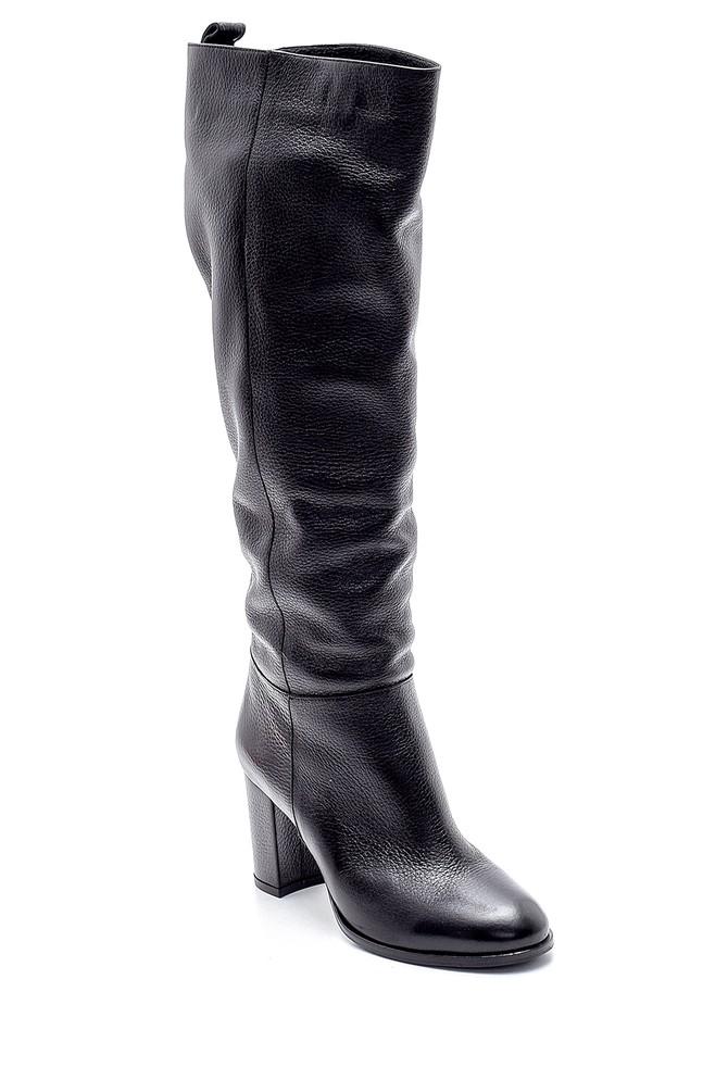 5638209707 Kadın Deri Topuklu Çizme