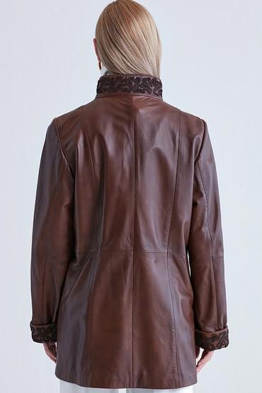 Kahverengi Brunella Kadın Deri Ceket 5637525599