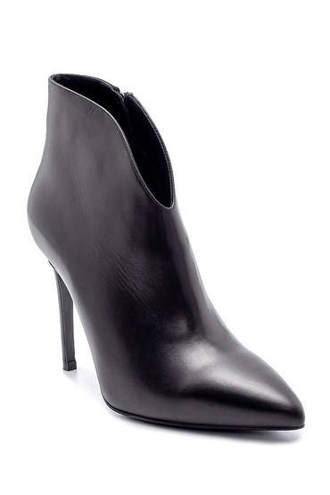 Siyah Kadın Deri Bootie 5638198562