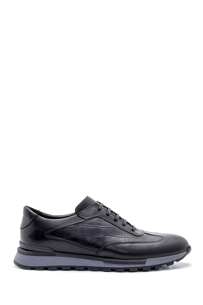 Siyah Erkek Deri Sneaker 5638203322