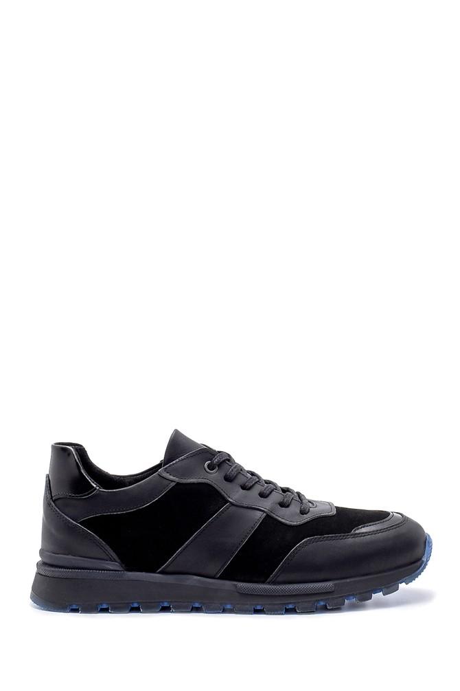 Siyah Erkek Süet Deri Sneaker 5638204040