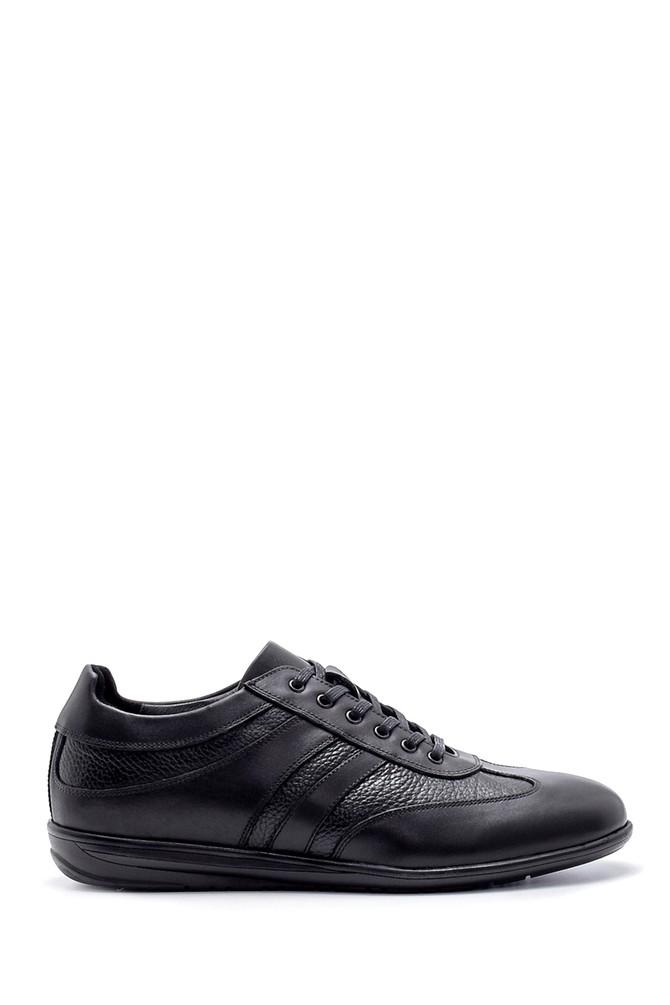 Siyah Erkek Deri Sneaker 5638204388