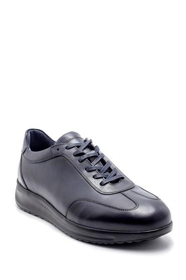Lacivert Erkek Deri Sneaker 5638204456