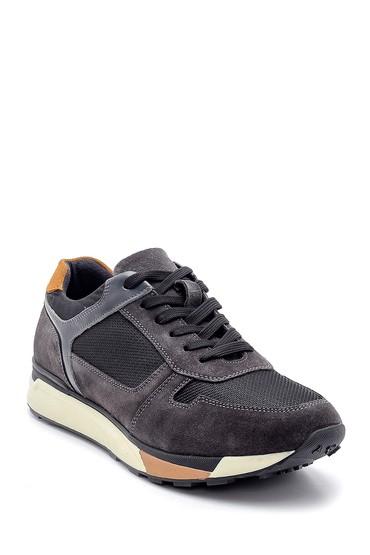 Gri Erkek Süet Deri Sneaker 5638204470