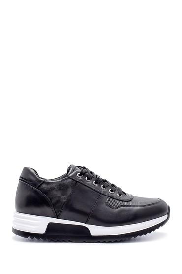 Siyah Erkek Deri Sneaker 5638211861