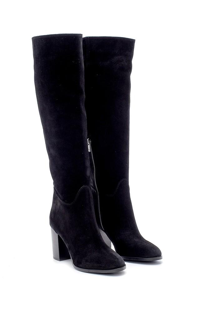 5638209686 Kadın Süet Topuklu Çizme
