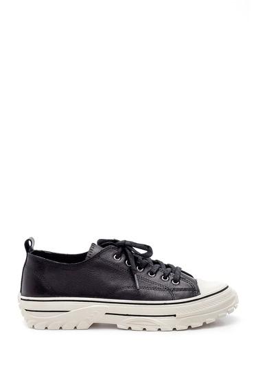 Siyah Kadın Deri Sneaker 5638183659