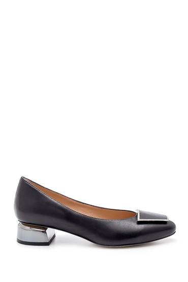 Siyah Kadın Deri Ayakkabı 5638183831