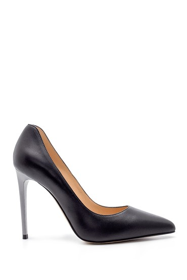 Siyah Kadın Deri Stiletto 5638183847