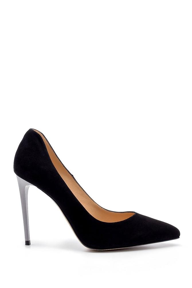 Siyah Kadın Süet Stiletto 5638183866