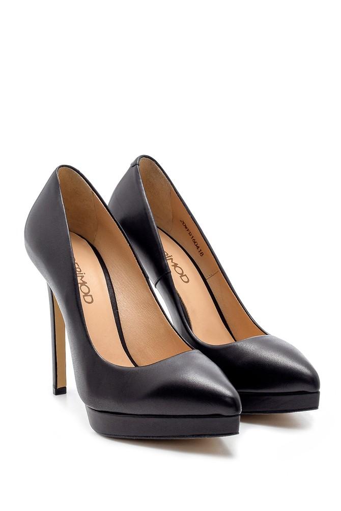 5638183900 Kadın Deri Topuklu Ayakkabı