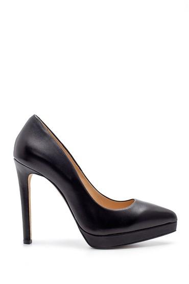 Siyah Kadın Deri Topuklu Ayakkabı 5638183900
