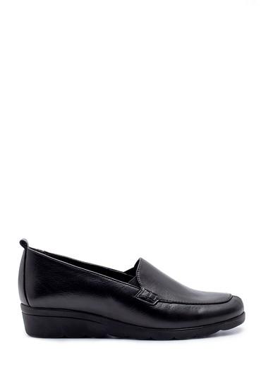 Siyah Kadın Deri Ayakkabı 5638193367