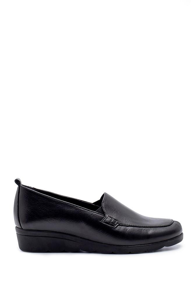 Siyah Kadın Deri Ayakkabı 5638193380