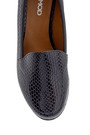 5638199418 Kadın Yılan Derisi Desenli Dolgu Topuklu Ayakkabı