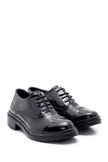 Siyah Kadın Rugan Casual Ayakkabı 5638199450