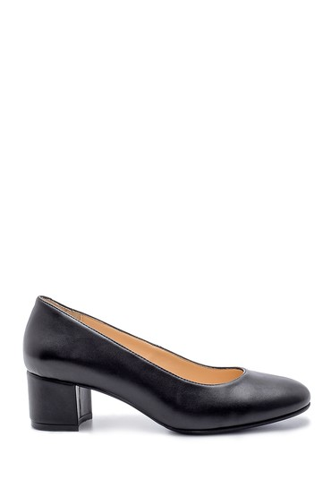 Siyah Kadın Kalın Topuklu Ayakkabı 5638203085