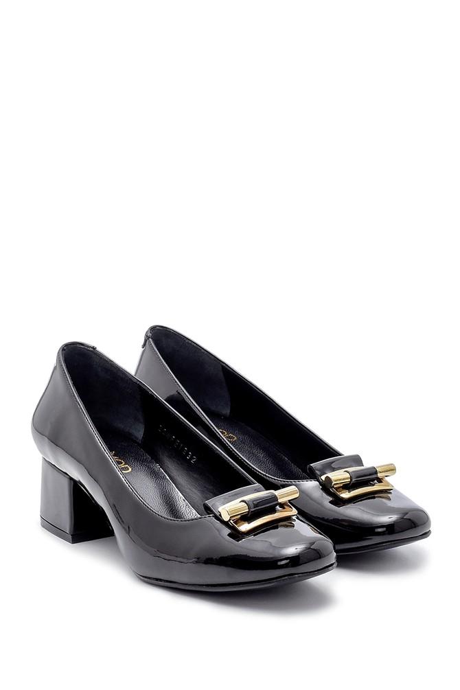 5638203095 Kadın Rugan Kalın Topuklu Ayakkabı