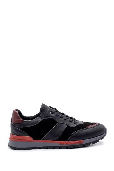 Siyah Erkek Süet Deri Sneaker 5638203958