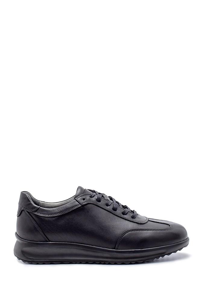 Siyah Erkek Deri Sneaker 5638204435