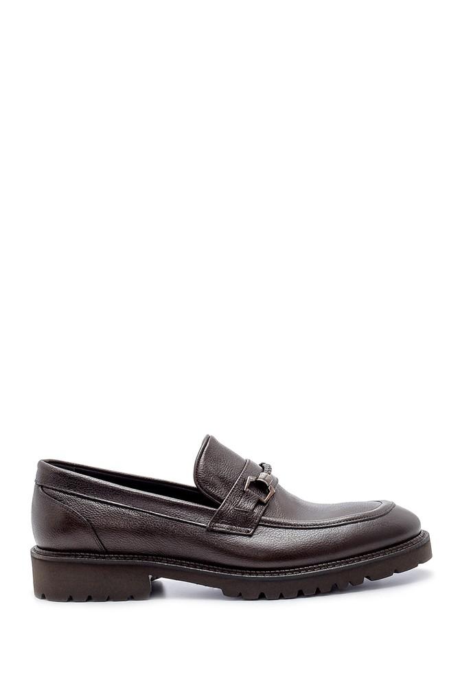 Kahverengi Erkek Deri Ayakkabı 5638209889
