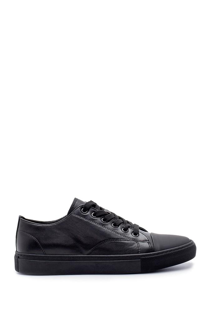 Siyah Erkek Deri Sneaker 5638210818