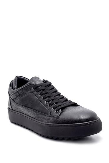 Siyah Erkek Deri Sneaker 5638210853