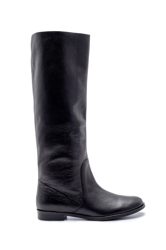 Siyah Kadın Deri Çizme 5638192037