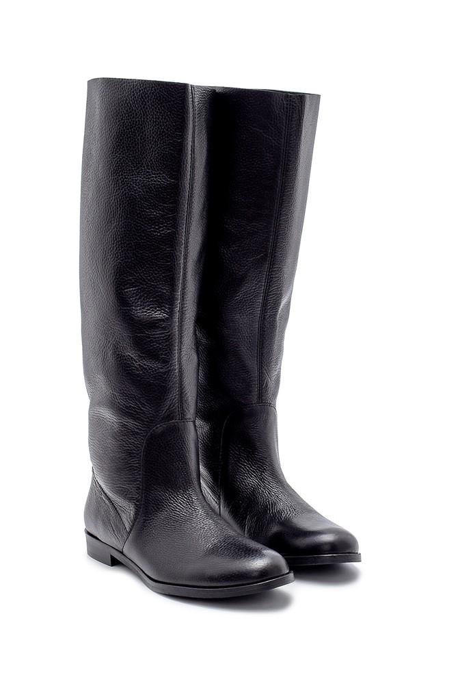 5638192037 Kadın Deri Çizme