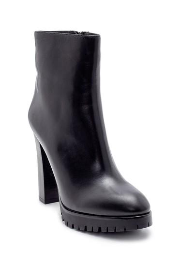 Siyah Kadın Deri Topuklu Bot 5638198582