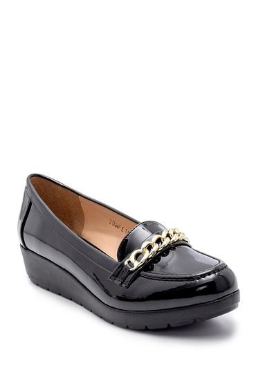 Siyah Kadın Rugan Ayakkabı 5638199394