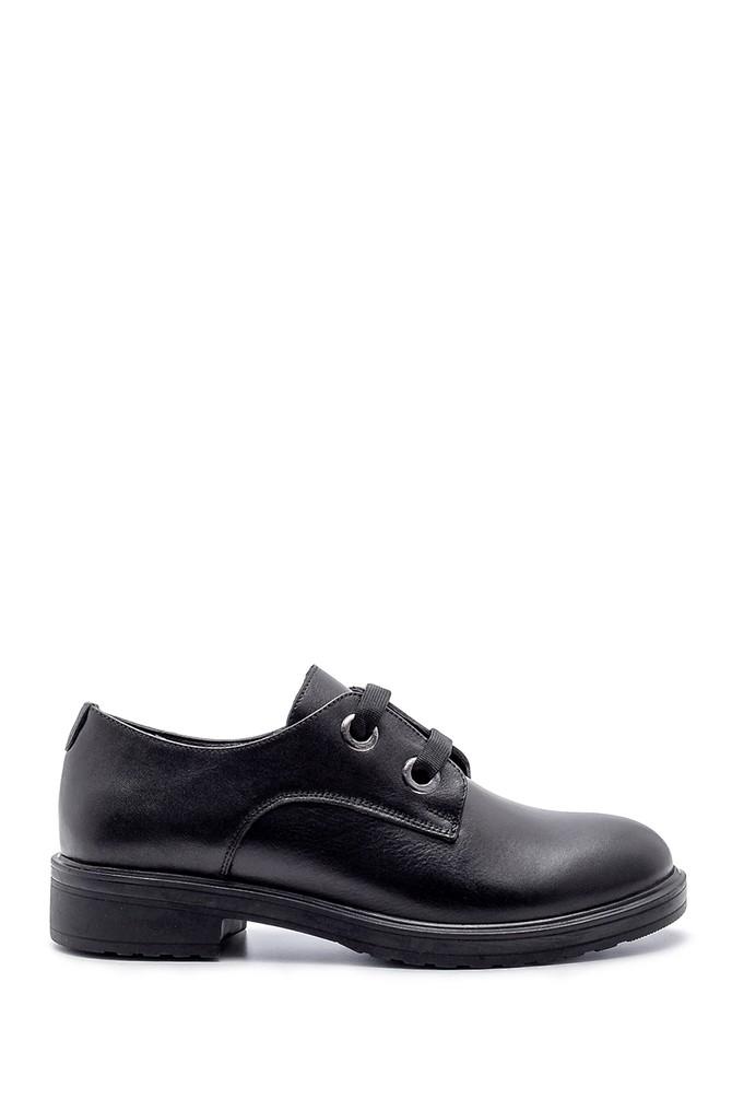 Siyah Kadın Deri Casual Ayakkabı 5638202456
