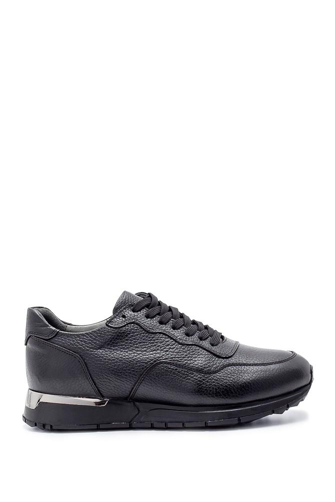 Siyah Erkek Deri Sneaker 5638204363