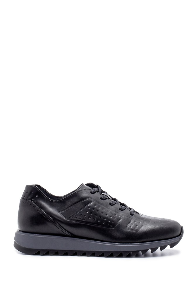 Siyah Erkek Deri Sneaker 5638204375