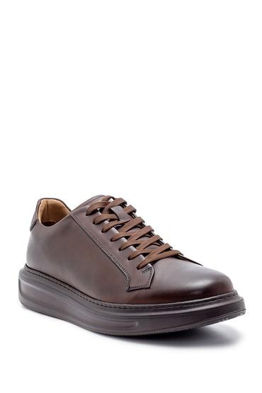 Kahverengi Erkek Deri Sneaker 5638204481