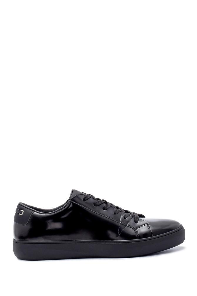 Siyah Erkek Deri Sneaker 5638210908