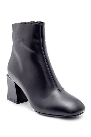 Siyah Kadın Deri Topuklu Bot 5638209609